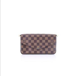 Louis Vuitton Pochette Felicie Damier Ebene Canvas